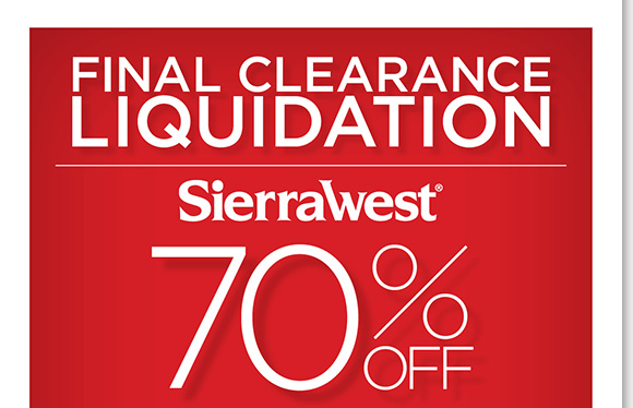 Final Clearance Liquidation! Save 70% on ALL Sierra West® boots, casuals, sandals and more! Featuring comfortable outdoor-inspired footwear ideal for everyday wear, hurry to find the best selection online and in stores at The Walking Company.