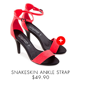 NEW LOOK Snakeskin Ankle Strap