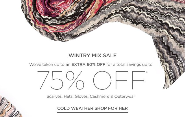 Up to 75% off Scarves, Hats, Gloves & more