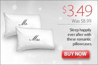 Romantic Couple Pillowcases