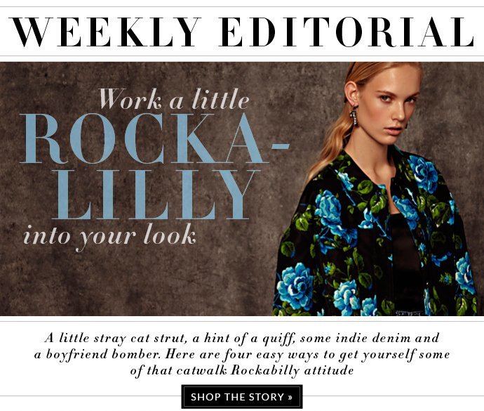 WORK A LITTLE ROCKA-LILLY INTO YOUR LOOK