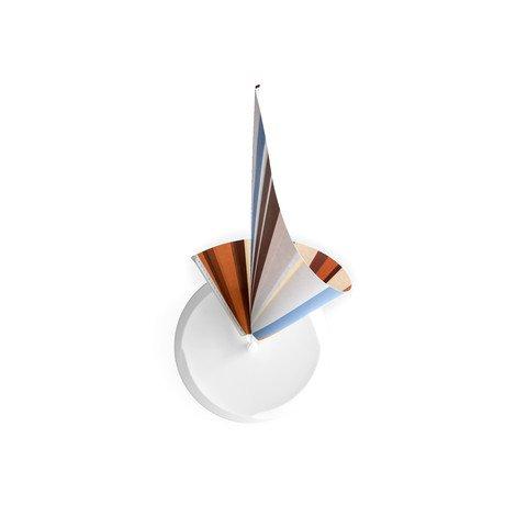 Manifold Clock // Blue & Brown Stripes 14