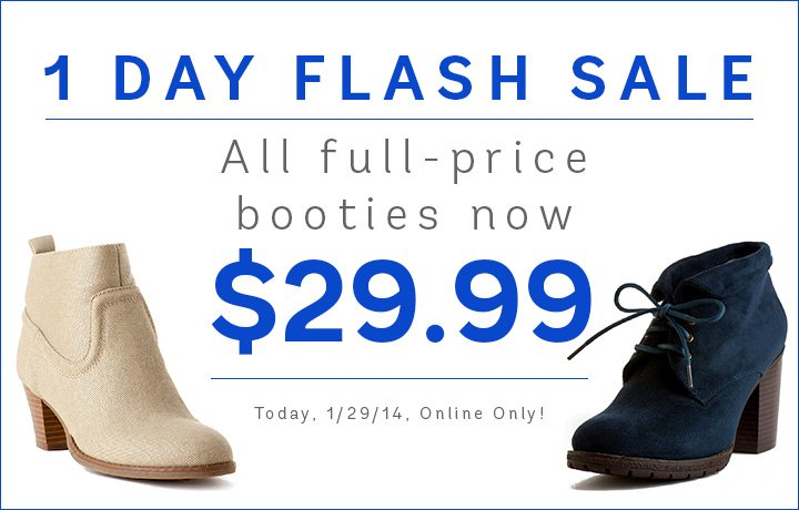 All full-price bootie now $29.99