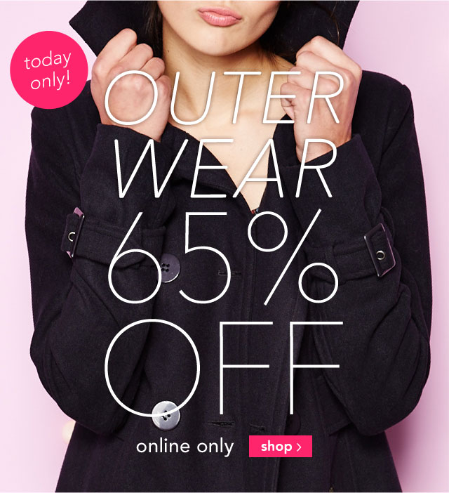 OUTERWEAR 65% OFF