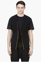 DENIS GAGNON Black & Gold Structured Vest for men