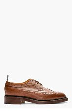 THOM BROWNE Brown Leather Longwing Brogues for men
