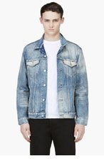 LEVI'S Blue Glorious Sun TRUCKER JACKET for men