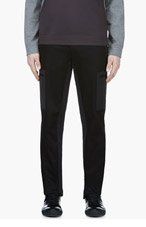 CALVIN KLEIN COLLECTION Black Cotton Pique Cargo Trousers for men