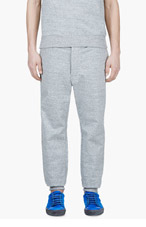SACAI Heather Grey Contrast Waist Lounge Pants for men