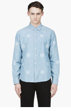 LEVI'S Pale blue Laser dot CLAY SHIRT for men