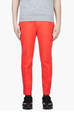 ACNE STUDIOS Blood orange classic TROUSERS for men