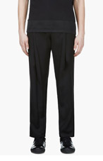 DENIS GAGNON Black Harem Pants with Zip Detail for men