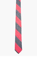 THOM BROWNE Red & Blue WASHED STRIPE Tie for men