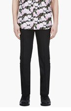 GIVENCHY Black Grosgrain-Trimmed Tux Trousers for men