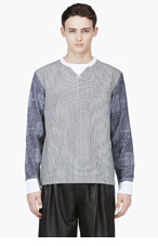SACAI Grey Mixed Houndstooth shirt for men