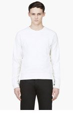 PUBLIC SCHOOL Ivory Mesh Crewneck Sweater for men