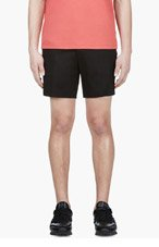 CALVIN KLEIN COLLECTION Black Cotton Piqu&eacute Shorts for men