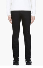 NAKED AND FAMOUS DENIM Black Raw Denim Super Skinny Jeans for men