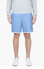 SACAI Blue Striped Deck Shorts for men