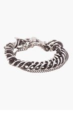 ANN DEMEULEMEESTER Antiqued silver Heavy CHAIN BRACELET for men