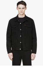 LEVI'S Black Denim Nightshine TRUCKER JACKET for men
