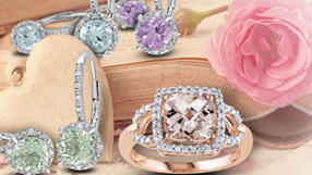 Diamonds in Pretty Pastels