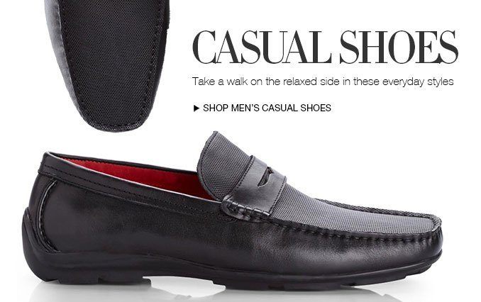 Casual Shoes. Take a walk on the relaxed side in these everyday styles. Shop Men's Casual Shoes.