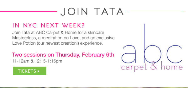 Join Tata for a MasterClass 2/6 in NYC! Click for Tickets