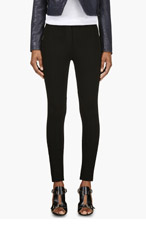 CHRISTOPHER KANE Black Stretch Riding Pants for women
