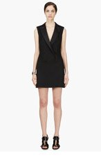 MCQ ALEXANDER MCQUEEN Black Double-Breasted Tuxedo Dress for women