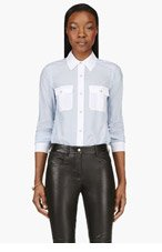 MARC BY MARC JACOBS Blue & White Dalia Dobby Blouse for women