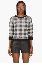 MARC BY MARC JACOBS Navy Check Mesh Back Sweater for women