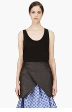 CEDRIC CHARLIER Black Jersey Serged tank top for women