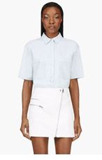 BAND OF OUTSIDERS Blue Denim Shadow Pocket Blouse for women