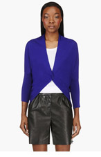 LANVIN Royal Blue Cocoon Wrap Cardigan for women