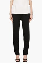 3.1 PHILLIP LIM Black Silk Piped Trousers for women