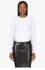 GIVENCHY White cropped knit sweater for women