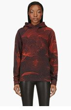 CHRISTOPHER KANE Black & Red Tech Print Hoodie for women