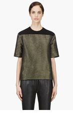 CEDRIC CHARLIER Green & silver wire woven Blouse for women