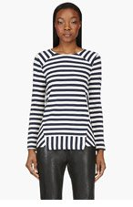 MARC BY MARC JACOBS Navy Stripe Crewneck Sweater for women