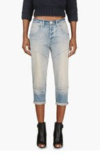MARC BY MARC JACOBS Light Blue Faded Cropped Boyfriend Jeans for women
