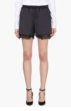 SACAI LUCK Navy Drawstring Lingerie Lined Shorts for women