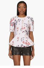 STELLA MCCARTNEY Mauve Floral Brocade Blouse for women