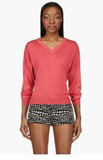 STELLA MCCARTNEY Pink Heathered V-Neck Sweater for women