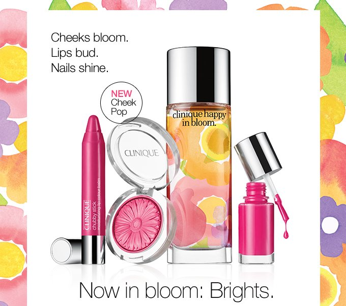 Cheeks bloom. Lips bud. Nails shine. Now in bloom: Brights.