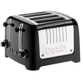Gloss Toaster 4-Slices, Black 220V