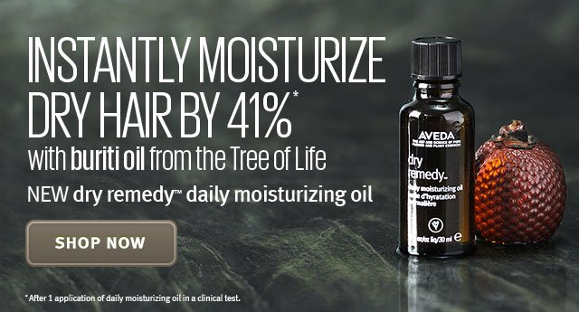 instantly moisturize dry hair by 41%. shop now.