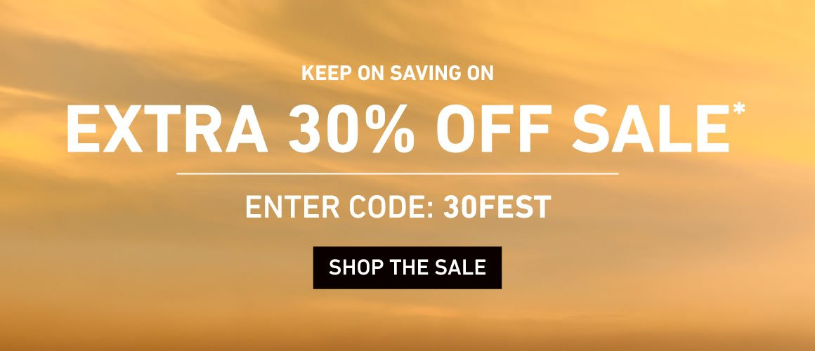 Extra 30% Off Sale. Enter Code: 30FEST