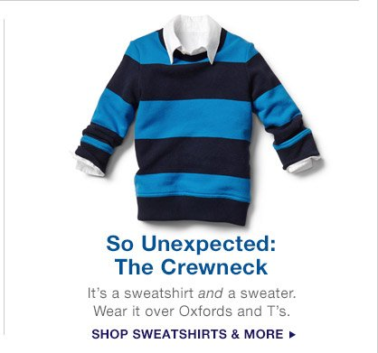 So Unexpected: The Crewneck | SHOP SWEATSHIRTS & MORE
