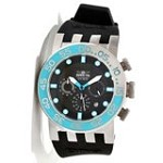Invicta 12418 Men's DNA Diver Black Dial Black Rubber Strap Chronograph Watch
